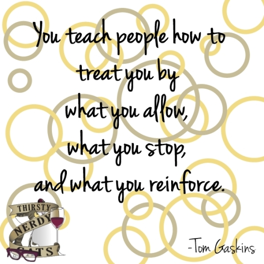 You teach people - Gaskins